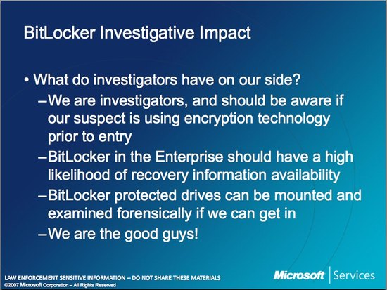 Microsoft Law Enforcement Bitlocker 2
