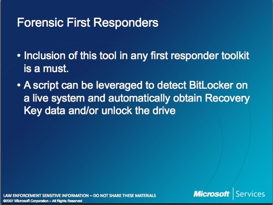 Microsoft Law Enforcement Forensic First Responders
