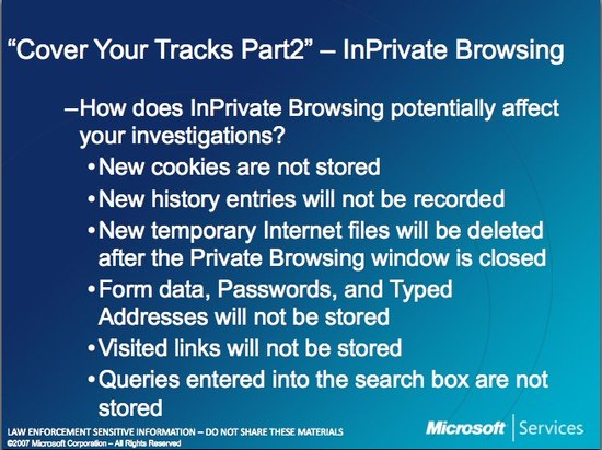Microsoft Law Enforcement InPrivate 2