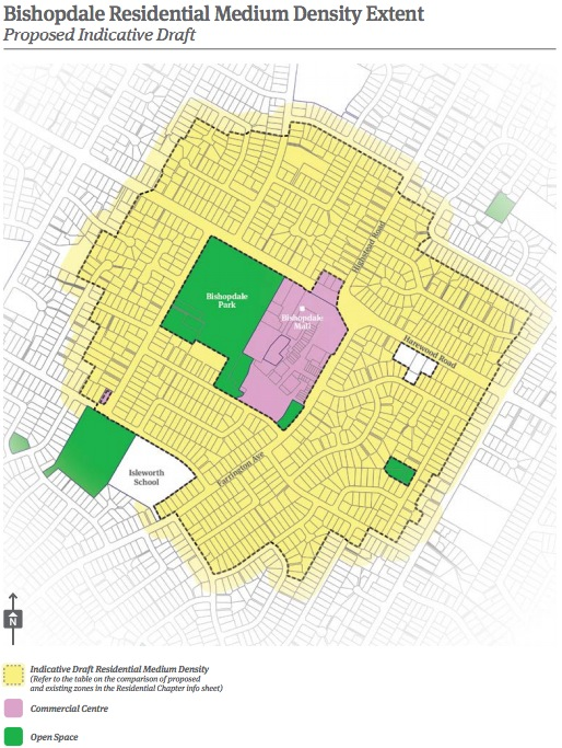 Christchurch City Council 2014 District Plan Review Bishopdale Map
