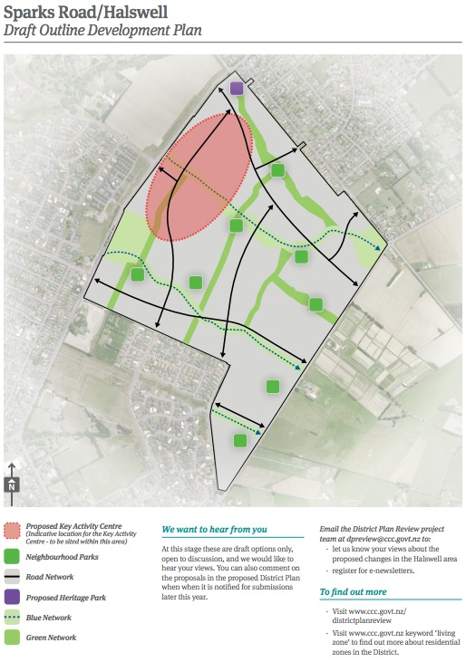 Christchurch City Council 2014 District Plan Review Sparks Road Halswell Map