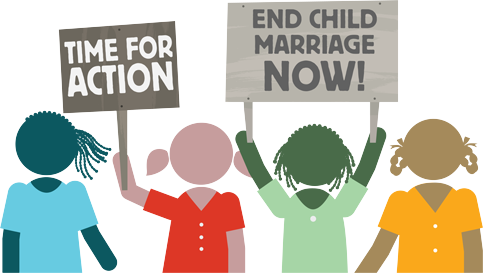 Girls Not Brides - end child marriage now graphic